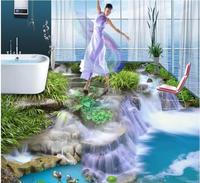 3d Flooring Wallpaper Custom Waterproof 3d Flooring Pvc The Grass Water Falls 3d Bathroom Flooring 3d