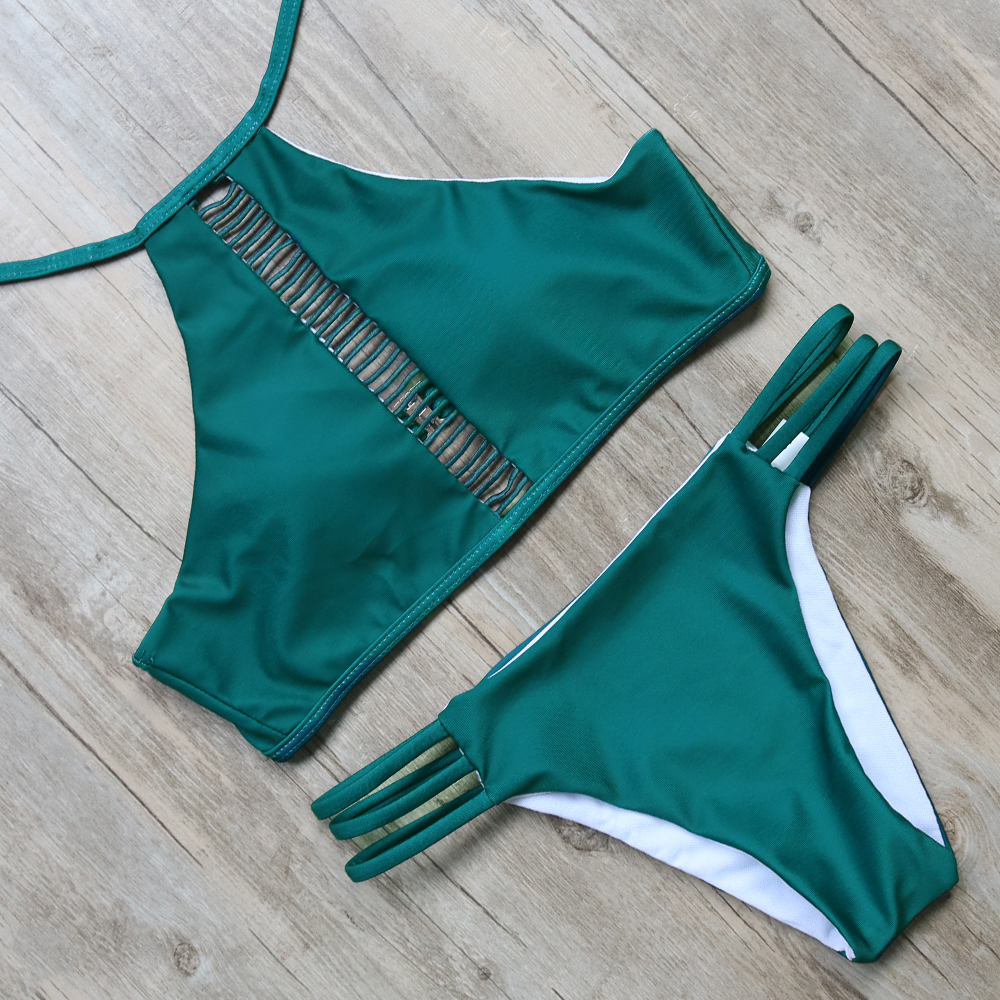 Bikini Swimsuit Swimwear Women Bikini Set Push Up High Neck Bathing Suit Biquini Maillot De Bain Femme Beachwear Swim Wear
