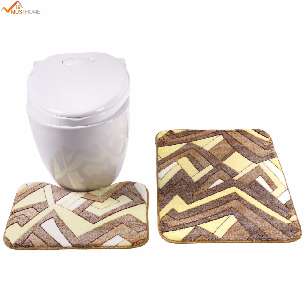 50x50cm Non Slip Bath Mat Toilet Mat Latex Back High quality ...