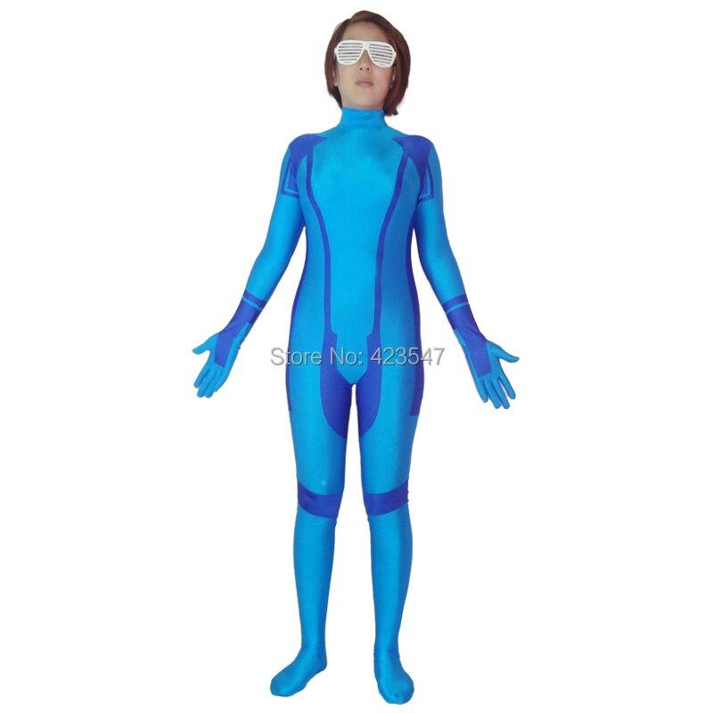 Metroid Zero Mission Samus Aran Superheld Kostuum Halloweenfeest - Carnavalskostuums