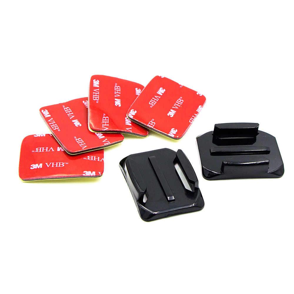 16 шт. набор Плоских шлем изогнутой формы клеящееся крепление + 3м стикеры VHB для спортивной экшн-камеры Go Pro Hero 6 5 4 3 спортивной экшн-камеры Xiaomi yi 4 K SJCAM Спортивная камера GoPro