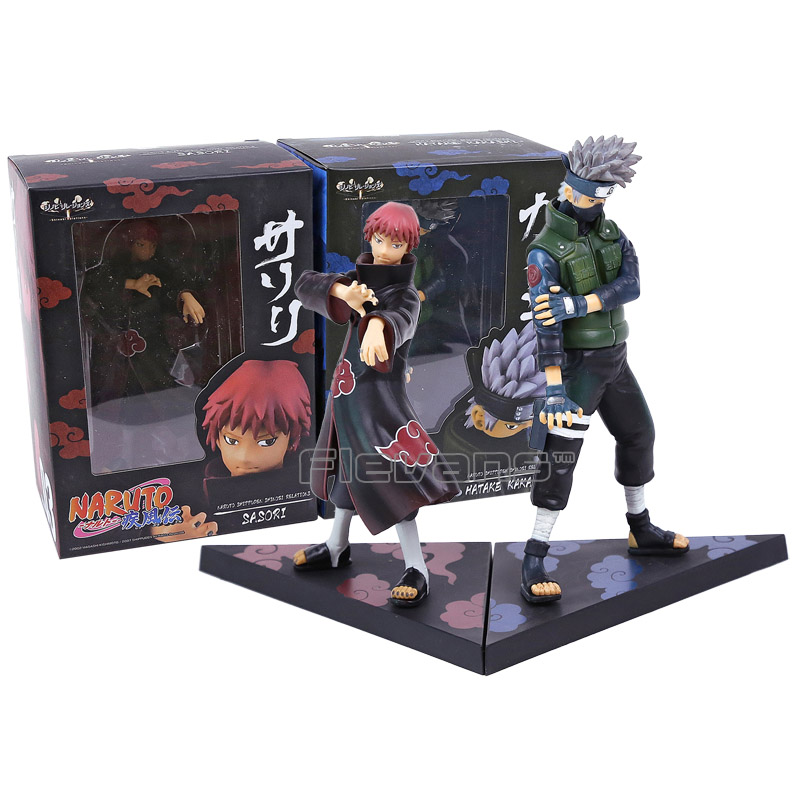 Naruto Shippuden Hatake Kakashi & Sasori PVC Figures Collectible Model Toys 2pcs/set Boxed