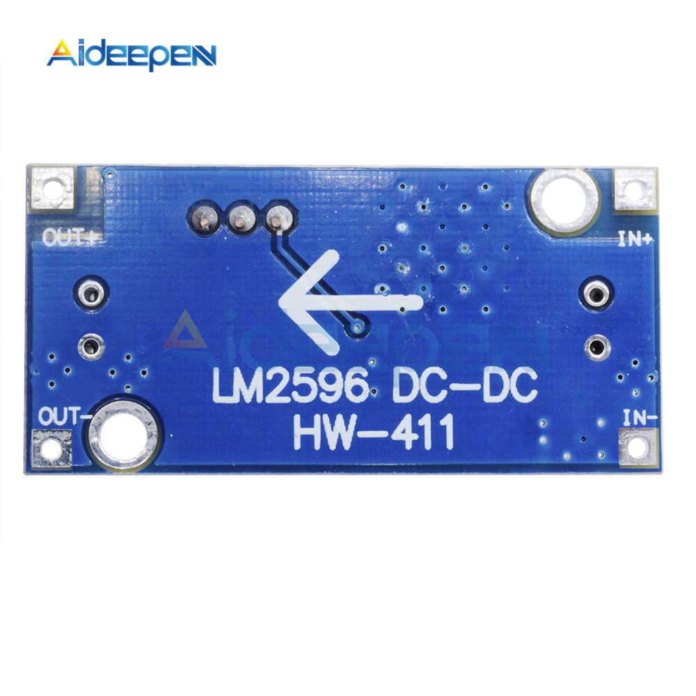 DC-DC abaisseur Buck convertisseur Module LM2596 3.2 V-40 V à 1.25 V-35 V régulateur de tension d'alimentation réglable