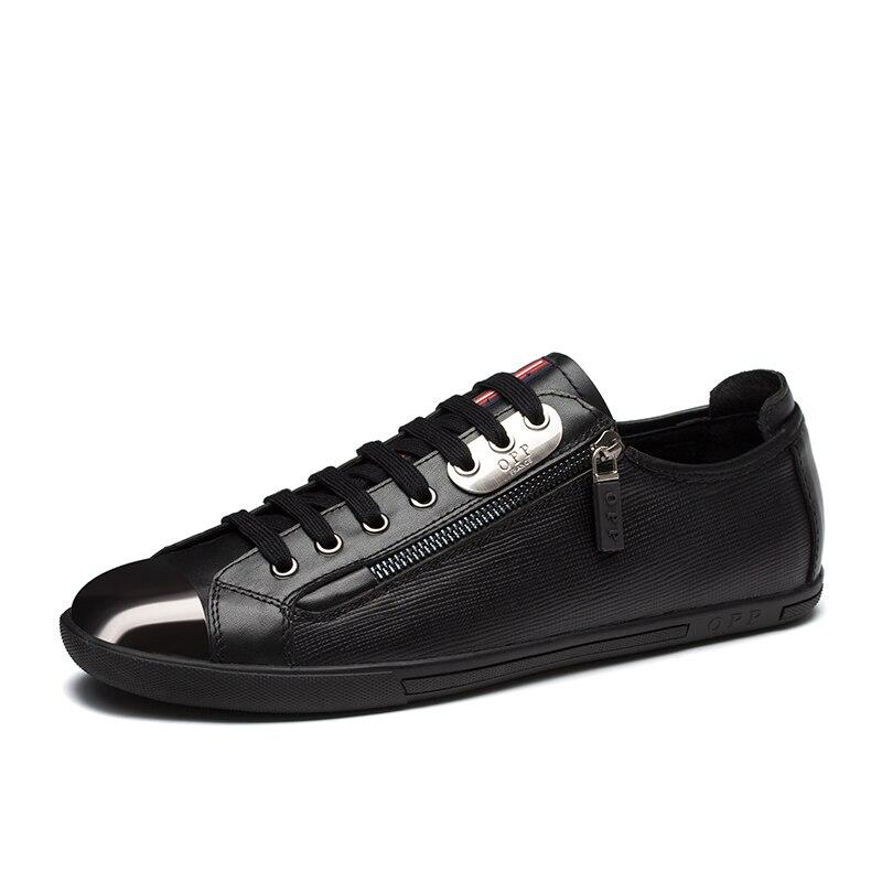 Hommes Chaussures Lacets Véritable Mode Couture En Cuir blue À D'opp Black Occasionnels Pour Bas Mocassins Décontractées gqTgdA