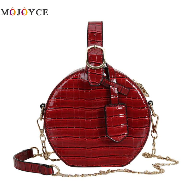 Round Shape Chain Top-Handle Bags Girls Personality Leather Handbags Crossbody Bag for Women Bolsa FemininaRound Shape Chain Top-Handle Bags Girls Personality Leather Handbags Crossbody Bag for Women Bolsa Feminina