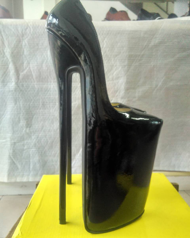 b810f0dea53 New design Full grain leather pump EXTREME high HEEL 30CM high heel 15cm  platform women shoes Sexy fetish high Heels sexy pump-in Women s Pumps from  Shoes ...