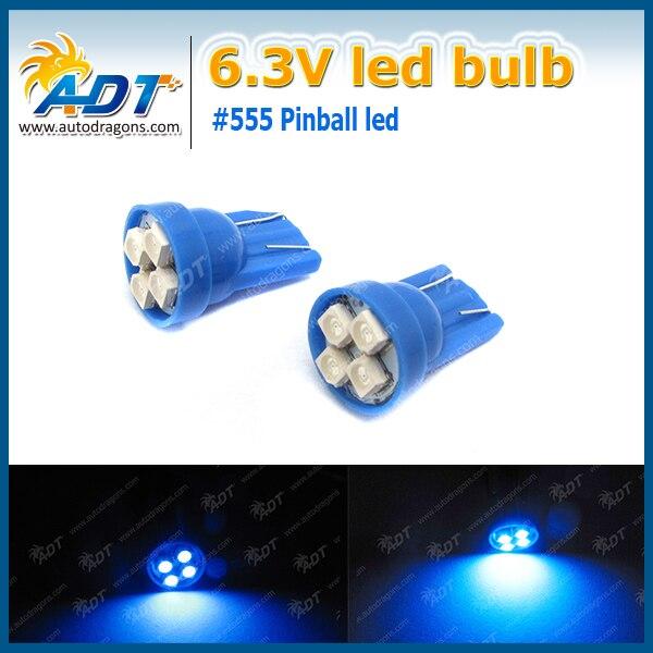 Lot of 10 #555 Pinball Machine Blue LED Lights