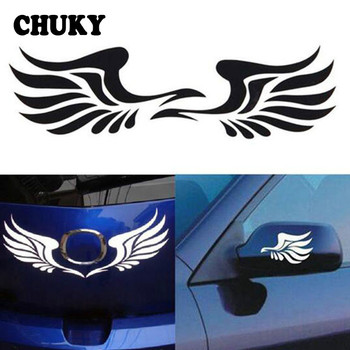 Auto Motorcycle Rearview Mirror Decor Wings Car Sticker for Peugeot 307 207 508 208 406 2008 Lada Vesta Granta Priora Kalina image