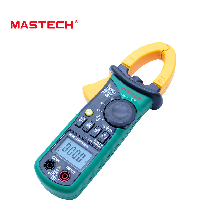 Digital Clamp Meter  MASTECH MS2108A Auto range Multimeter AC 400A Current Voltage Frequency clamp MultiMeter Tester Backlight digital clamp meter mastech ms2108a auto range multimeter ac 400a current voltage frequency clamp multimeter tester backlight