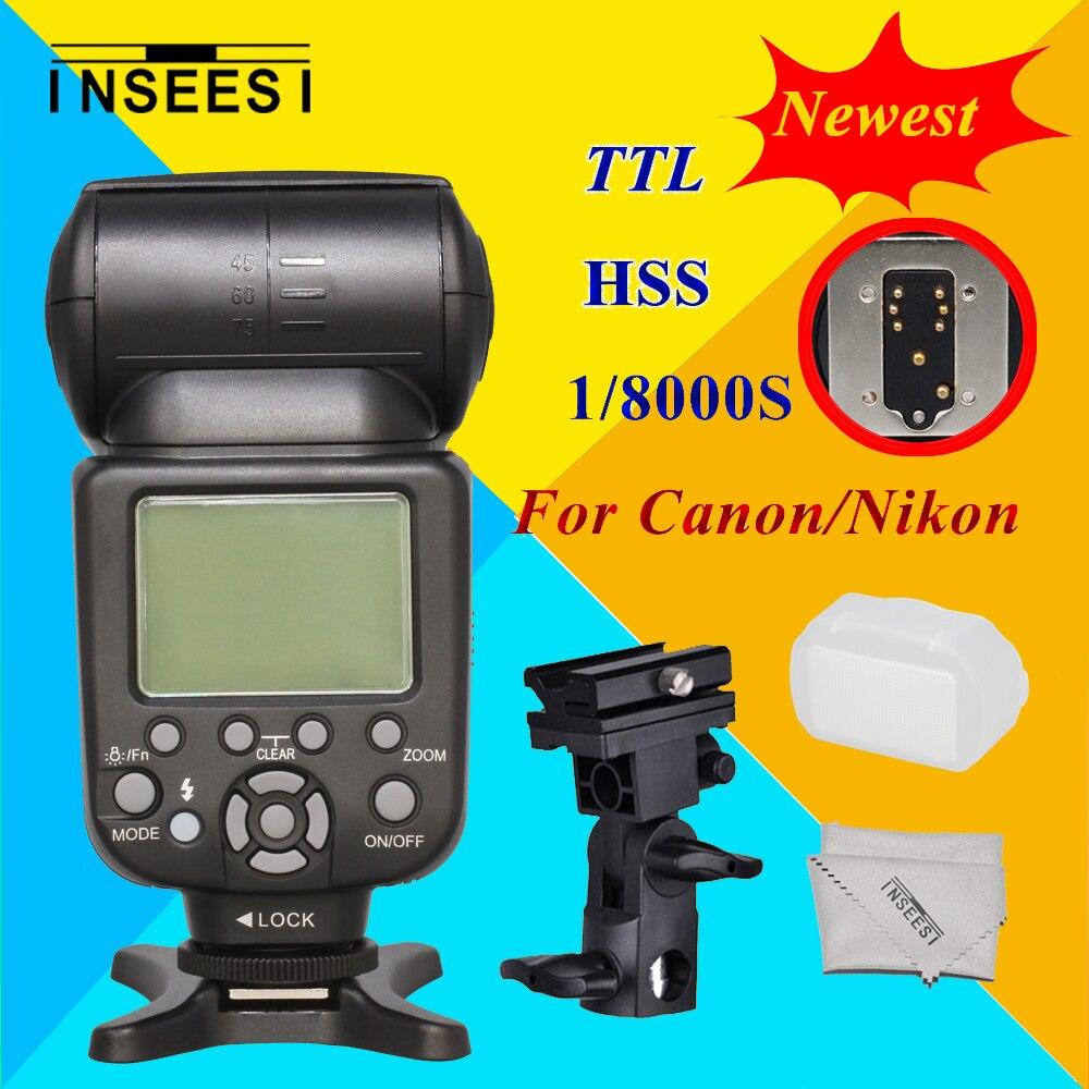INSEESI IN586EX II Wireless TTL HSS 1/8000S Camera Speedlite For Canon Nikon VS YN565EX YN-568EX YN568 for canon nikon d3100 d3200 d7000 d5000 dslr camera wireless ttl hss 1 8000s speedlite flash speedlight inseesi in 586ex ii