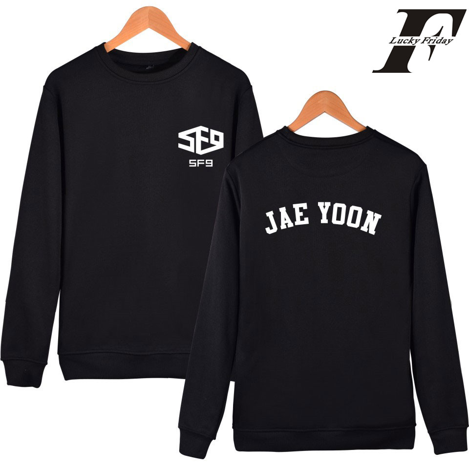 Men's Clothing Latest Collection Of Classic Symbol Sf9 Sweatshirt Men Black In Winter Warm Mens Hoodies And Sweatshirts Hip Hop Autumn 4xl Limpid In Sight