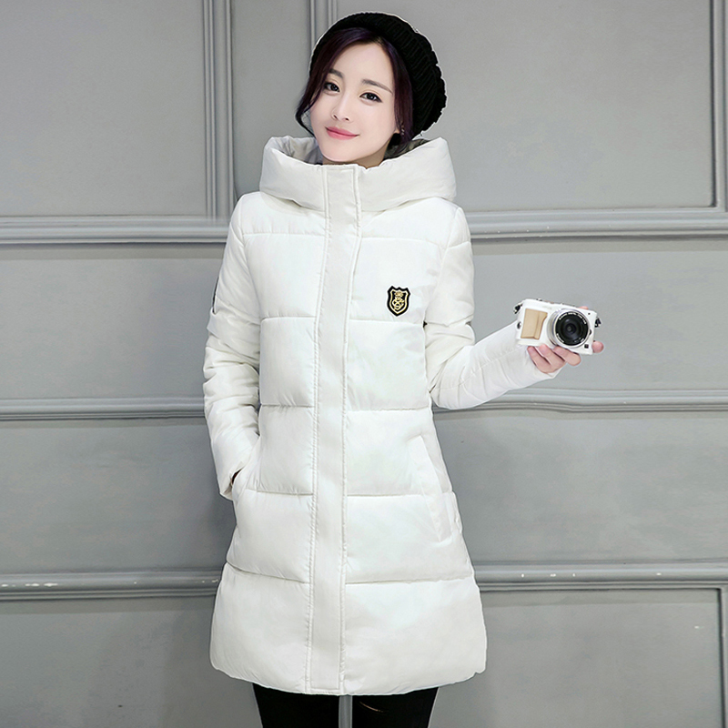 2016 Winter New Down Parka Women Long Plus Size Slim Hooded Cotton Jacket Coat Female Cotton-Padded Parka Thick Warm Coat A05