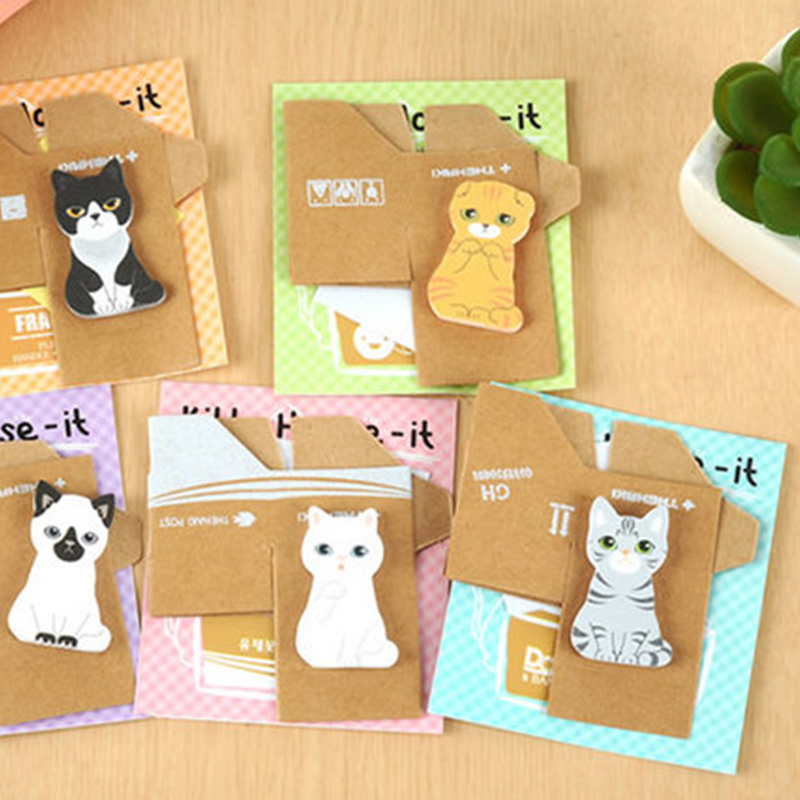 10 pcs/lot Kawaii Cat memo pad Cute sticky notes paper stationery Diary post it stickers office School Supplies escolar