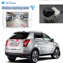 YESSUN wireless rear view camera For SSangYong Actyon Micro Actyon 2006~2014 CCD Night Vision Backup Camera License Plate came ветровики mobis ssangyong actyon 2006 2010