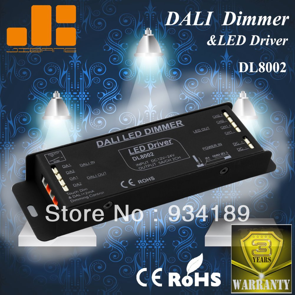 Free Shipping 2CH DALI DIMMER and LED DRIVER WITH TOUCH DIM FUNCTION  DC12-24V Constant Voltage Single Output 1x high quality 90 108w 2 chanel 2 4g cct adjustable constant voltage led driver 2 4g led remote controller free shipping