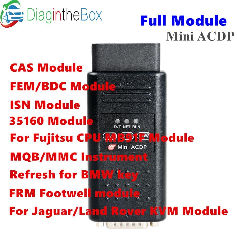 Yanhua Mini ACDP con il pieno di Programmazione del modulo Master WIFI Per BMW CAS1-CAS4 + FEM BDC Programmatore Chiave È Codice di Lettura e Scrivere