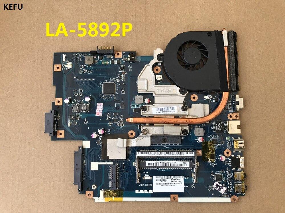 KEFU LA 5892P motherboard with fan is compatible with LA 5891P LA 5893P LA 5894P motherboard