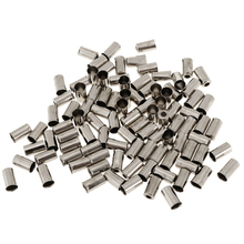 100Pcs Aluminum 5mm Bicycle MTB Brake Wire End Cap Cable Cover Gear Lightweight Parts Silver