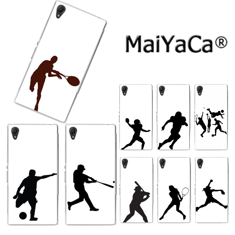 MaiYaCa baseball football tennis Golf Athlete Silhouette Luxury Phone Case for Sony Z2 Z3 Z4 Z5 Z5c for LG G3 G4 G5 for MOTO G