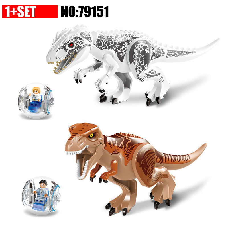 79151 LELE Jurassic Dinosaur World Tyrannosaurs Rex Model Building Blocks Enlighten Figure Toys For Children Compatible Legao