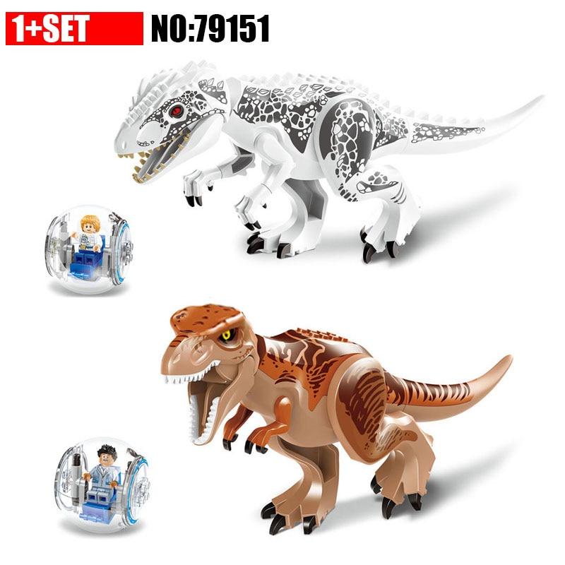 79151 LELE Jurassic Dinosaur World Tyrannosaurs Rex Model Building Blocks Enlighten Figure Toys For Children Compatible Legao