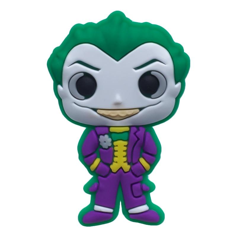 Single Sale1pc Batman-Arkham Asylum PVC Shoe Charms Shoe Accessories Shoe Decoration For Croc Jibz Kid's Party X-mas Gift