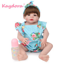 Kaydora 22 inch handmade boneca reborn doll lol reborn bebe realistic summer newborn dolls girls kids Christmas surprise gift(China)