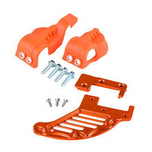 Right Left sides WP fork leg shoe guard protector Cover for KTM 125 200 250 300 350 400 450 500 EXC SX SXF XC XCF EXCF EXCW XCFW clutch cover protection cover water pump cover protector for ktm 350 exc f excf 2012 2013 2014 2015 2016