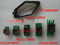 Complete PLCC General Adapter Set Includes PLCC20 28 32 44 To DIP20 24 28 32 40