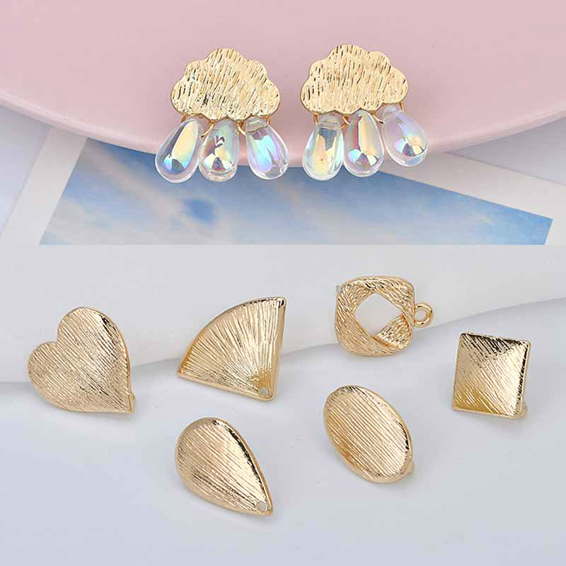 DIY Hand Accessories  Alloy Hanging Hang Open After Hanging Earrings, Love Clouds, Oval Earrings Ear Acupuncture Materials
