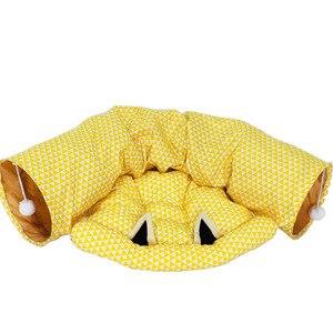 Image 3 - Складной туннель для кошек, для использования в помещении и на улице, тренировочная игрушка для кошек, кроликов, животных, туннелей для кошек, кроватей и туннелей