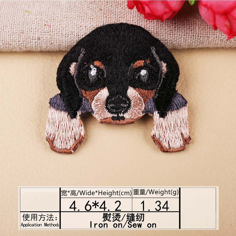 1 шт., нашивка для вышивания собаки, термопередача, гладить на вышивать на пачках для одежды DIY, футболка, тканевая наклейка, декоративные аппликации 47267 - Цвет: J