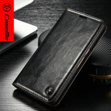 CaseMe Business Leather Case for Huawei Honor 8 Popular Luxury Magnetic Flip Stand Wallet Phone Cover for huawei Honor 8 Cases(China)
