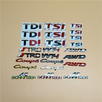 Modified Creative 3D DTI Car Side Stickers Letter VVT TSI Metal For VW Polo Golf 4