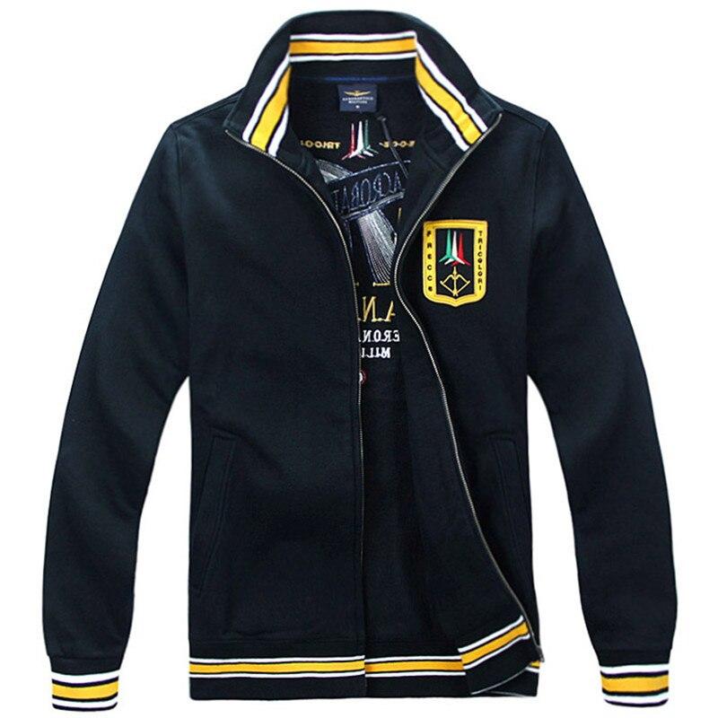 2018 Neue Mens Air Force Pilot Jacken Aeronautica Militare Hohe Qualität Stickerei Männer Frühling Und Herbst Casual Jacke Reine WeißE
