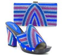 แอฟริกันรองเท้าที่สมบูรณ์แบบจับคู่กับกระเป๋าถือ, TH16-32 FashionLadyรองเท้าและชุดกระเป๋าสำหรับงานเลี้ยง.สีฟ้ารองเท้าที่มีการจับคู่ถุง