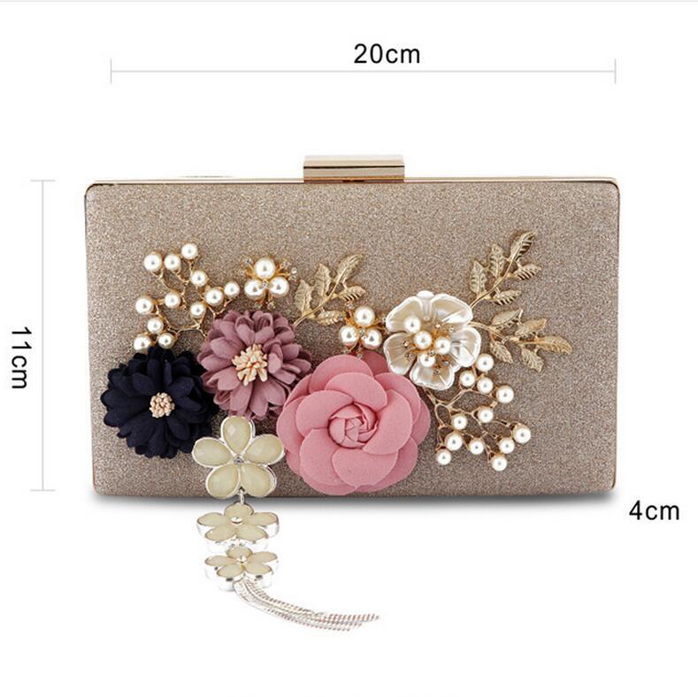 Meloke 2019 new fashion handmade floral evening bags wedding clutch ... 752b5d0b9241