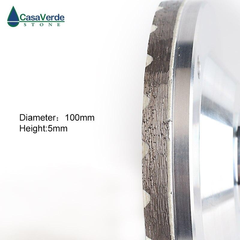 Livraison gratuite 3 pièces/ensemble diamant turbo résine remplissage aluminium corps coupe roues 4 pouces pour la pierre de meulage - 4