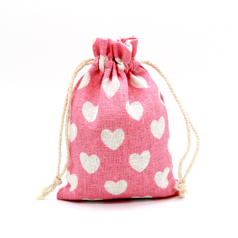 Small Wedding Gift Bags: 10pcs/lot Small Cotton Bags 10x14cm Wedding Party Favor
