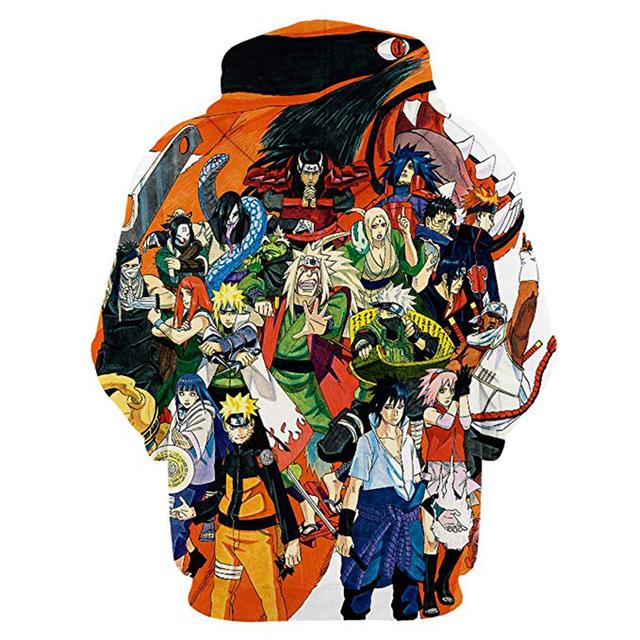 Naruto 3D Printed Akatsuki Hoodies