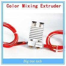 Более низкая цена V6 3D Принтер части 3D Один Цвет Смешивания экструзионная Головка 3D Версия Цельнометаллический Экструзионная Головка Горячая конец