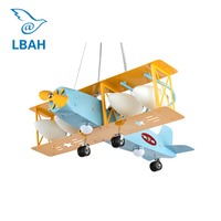 Super bright air plane droplight creative cartoon character boy bedroom of children room the lamps that shield an eye