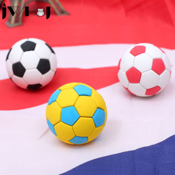 4 pcs/lot  Novelty removable football rubber eraser kawaii creative stationery school supplies papelaria gifts for kids