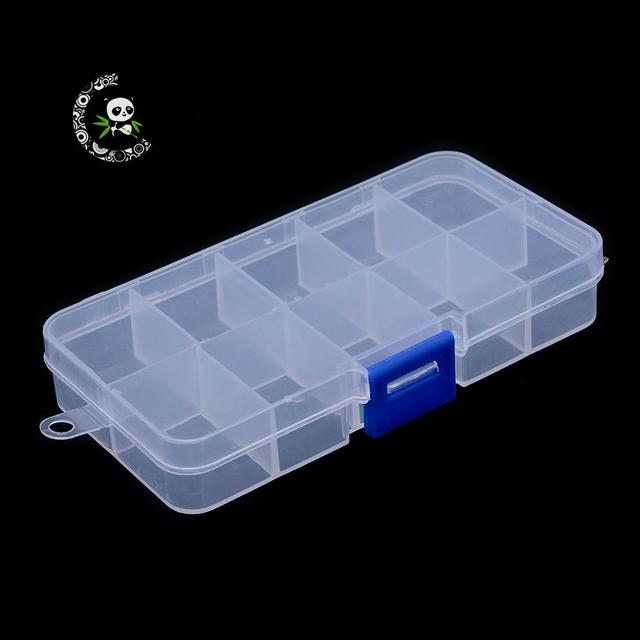 Plastic Bead Storage Containers Stationary 10 Compartments