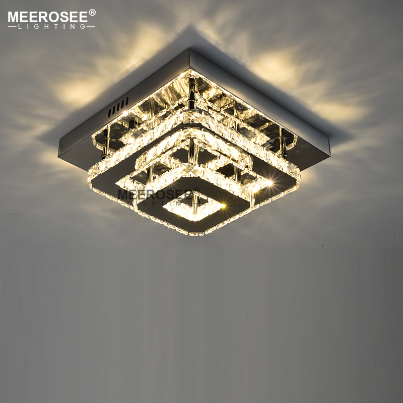 Modern Crystal LED Ceiling light Fixture For Indoor Lamp lamparas de techo Surface Mounting Ceiling Lamp For Bedroom Dining Room crystal modern led ceiling lights for living room bedroom ac85 265v lustre lamparas de techo avize crystal ceiling lamp fixtures
