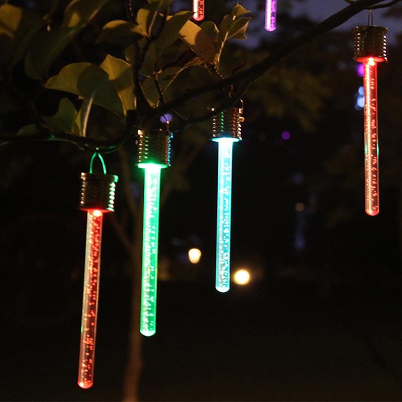 1 Stück Led Solar Hängen Anhänger Lichter Bunte Outdoor Garten Lampe Kronleuchter Christimas Party Baum Decor Der Preis Bleibt Stabil