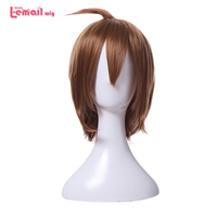 L Email Wig Hot Sale TV Cosplay Wigs Brown Short Men Wig Heat Resistant Synthetic Hair