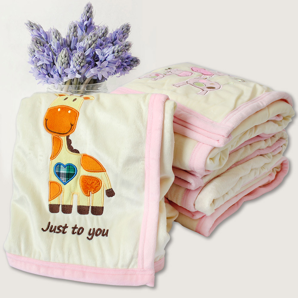 Double Layer Baby Blanket Newborn Infant Crib Bedding For