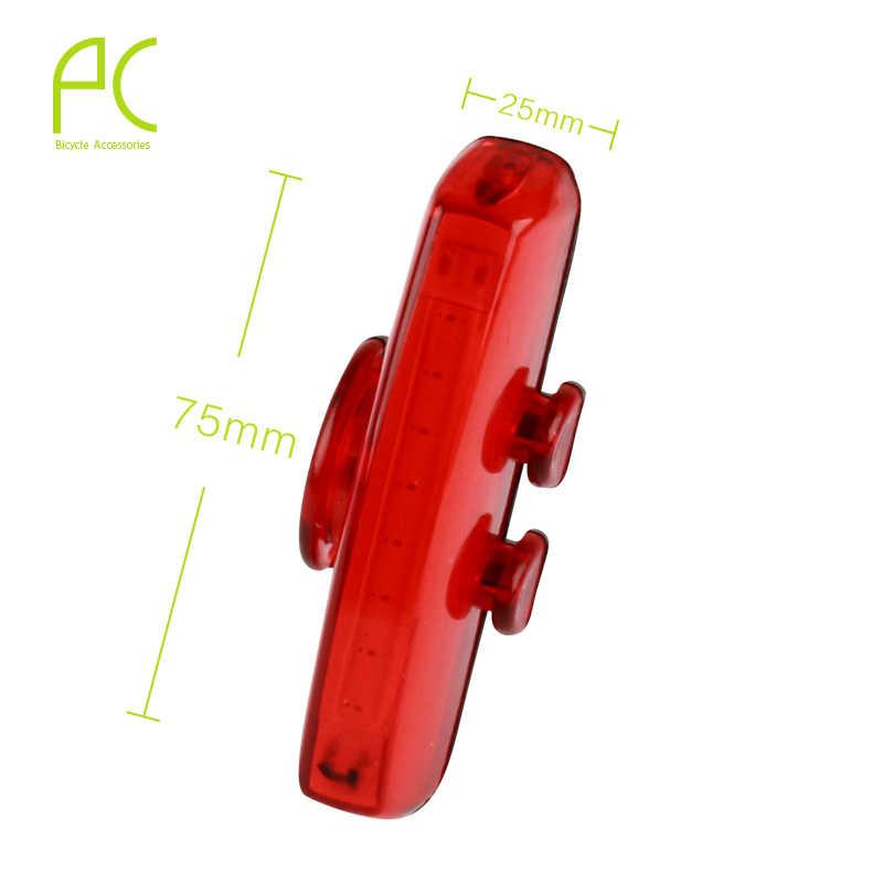 PCycling велосипедные фары Водонепроницаемый бескорпусный чип светодиод USB для подзарядки для безопасности в ночное время, лампы 6 режимов передний задний фонарь заднего фонаря Предупреждение свет
