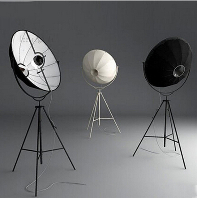 Fortuny Photography Floor Lamp Modern Satellite Studio Fabric ...